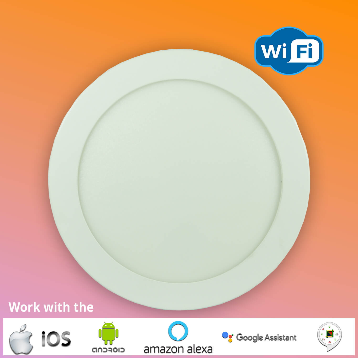 LED Smart WiFi Slim Panel Light Round -COOOLED