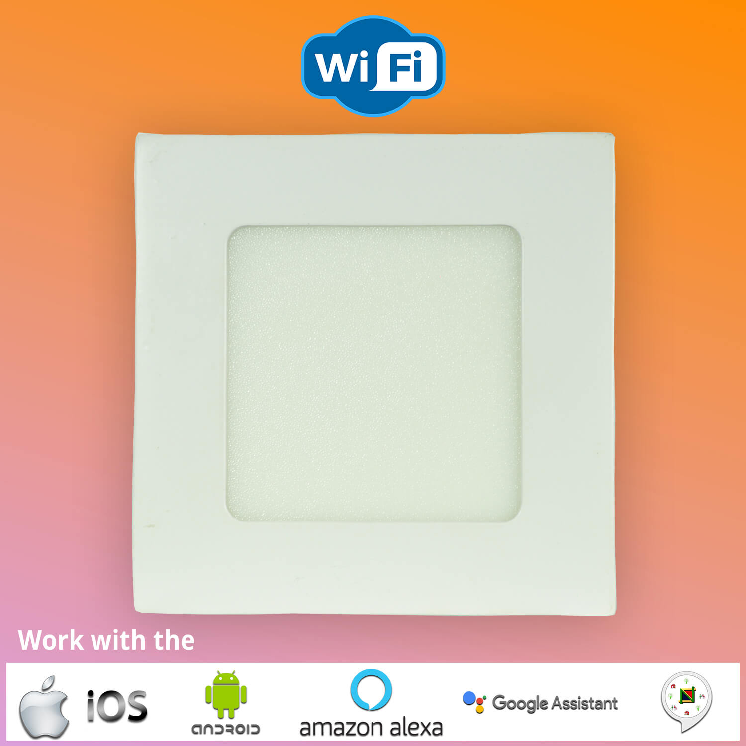 LED Smart WiFi Slim Panel Light Square -COOOLED
