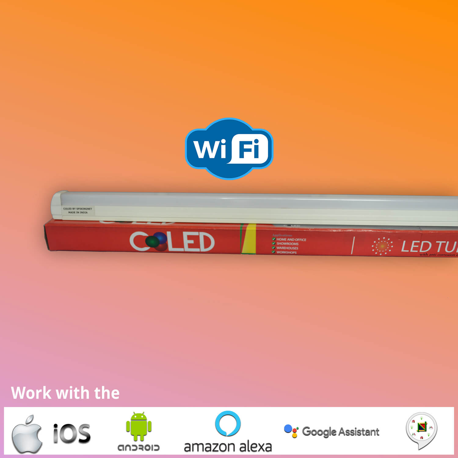 LED Smart WiFi Tube Light T8-Batten Aluminium -COOOLED